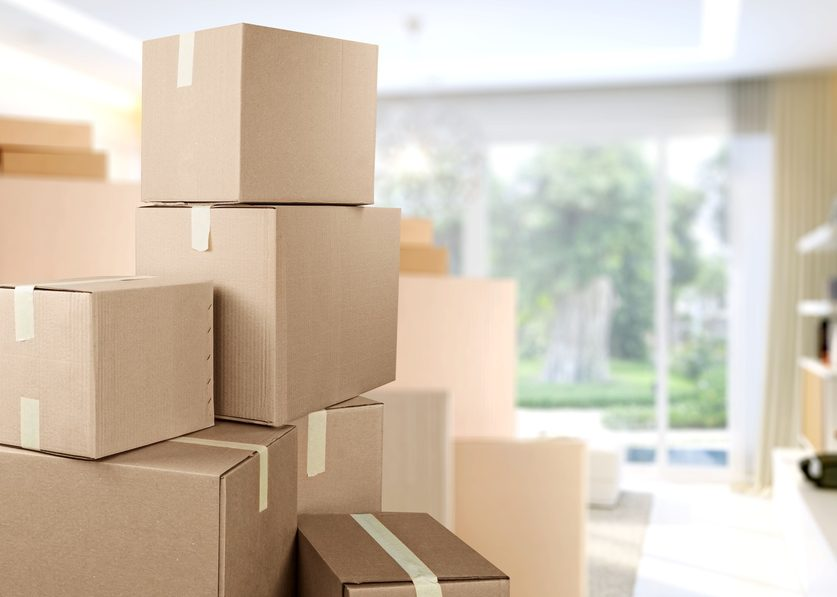 How many moving boxes are needed for a relocation?