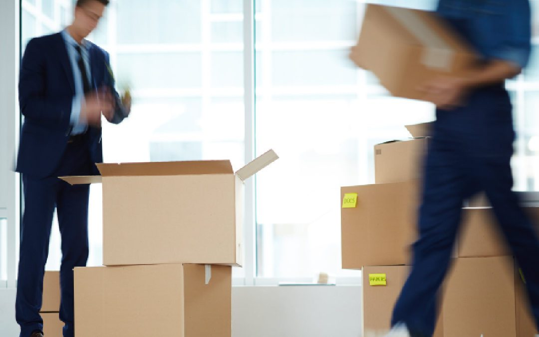 Building-to-building office relocation